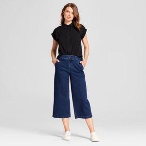 A New Day Denim High-Rise Wide Leg Crop Pants
